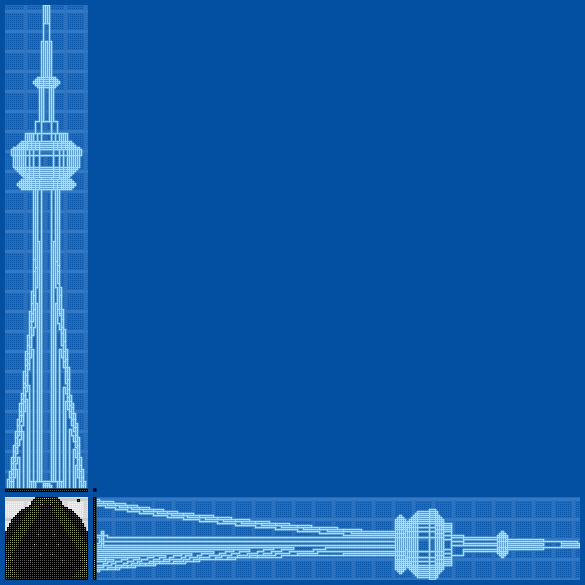 Tour Du Cn Toronto Blueprints For Minecraft Houses Castles Towers And More Grabcraft